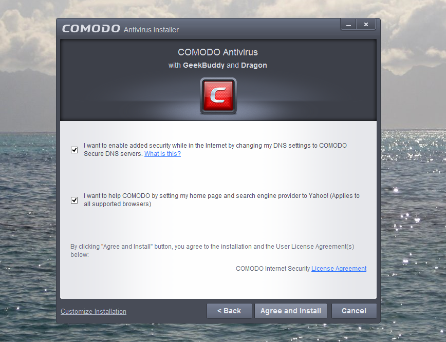 Comodo changing my Homepage
