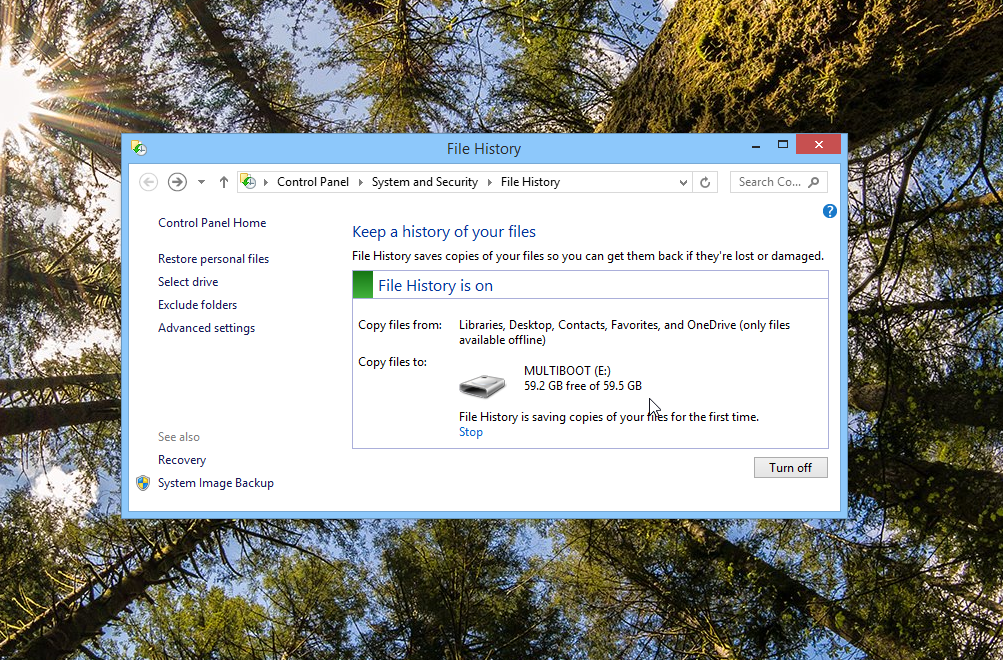 File History in Windows 8.1 is great