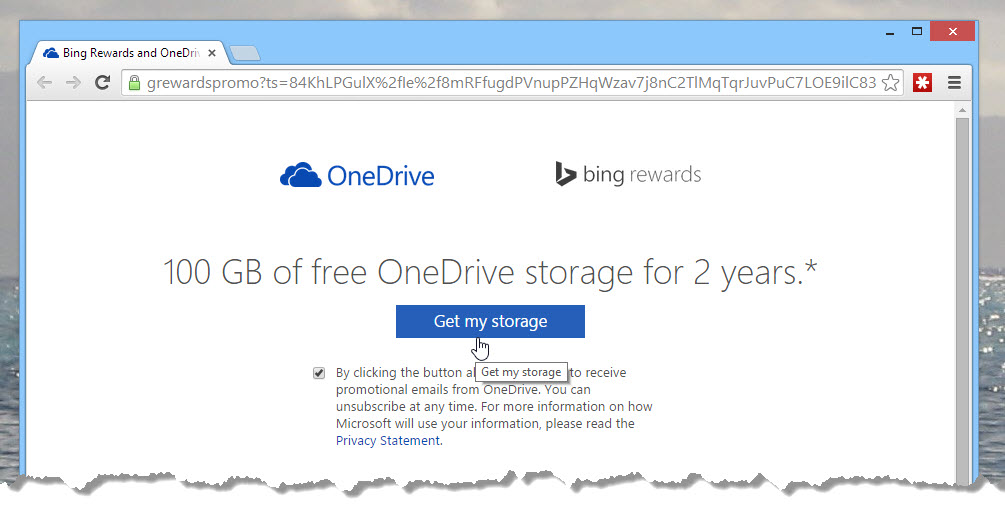 Get 100GB of space on OneDrive today