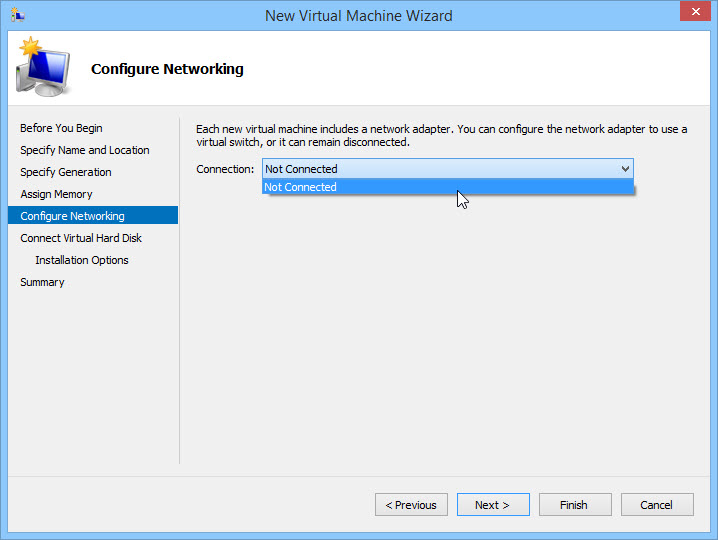 Configure Networking in Hyper-V