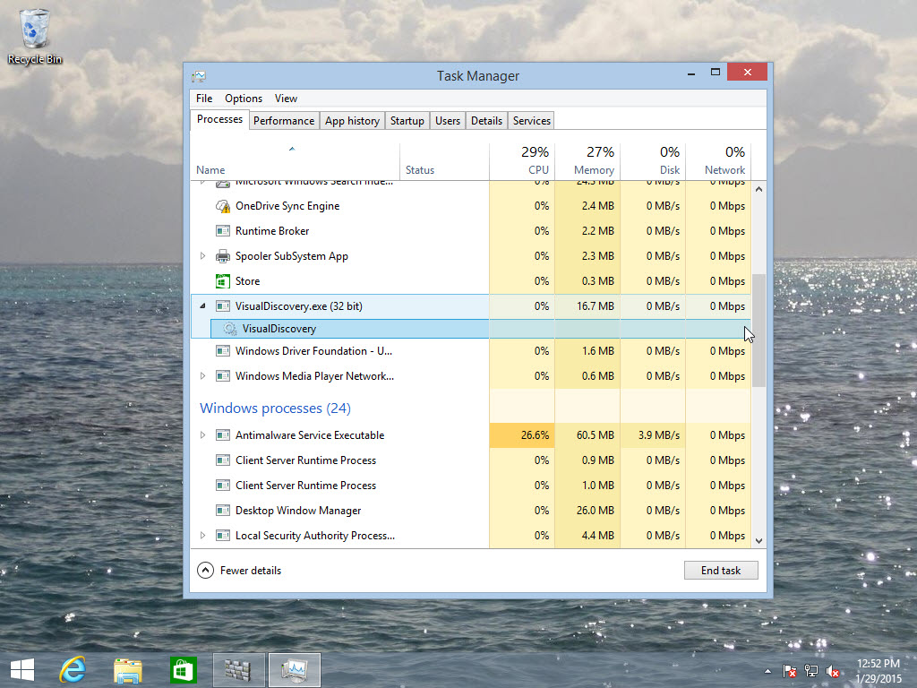 SuperFish hanging out in my Task Manager
