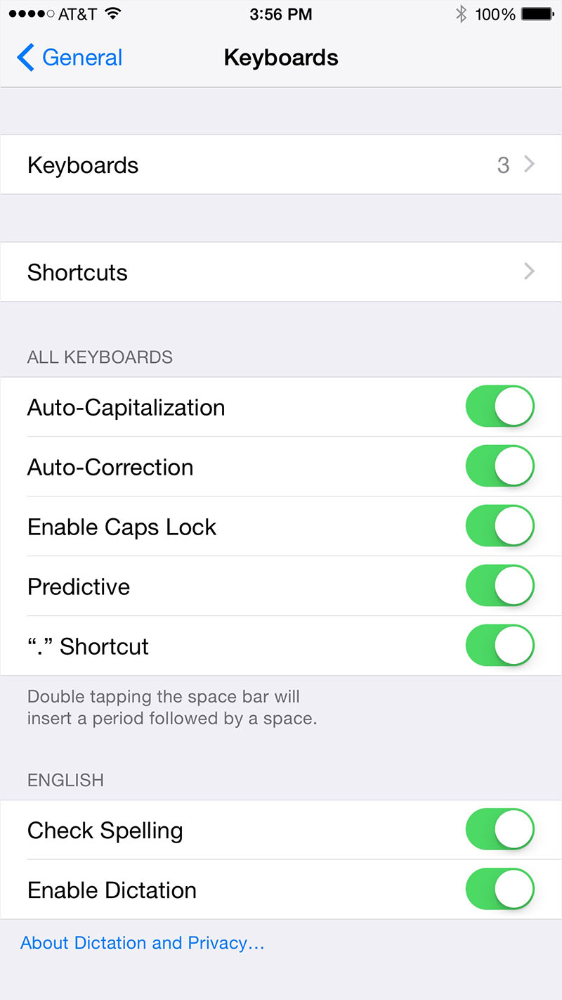 Disabling autocorrect on your iPhone