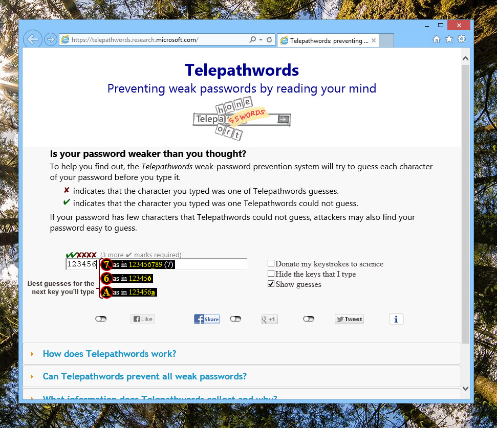 Microsoft Telepathwords