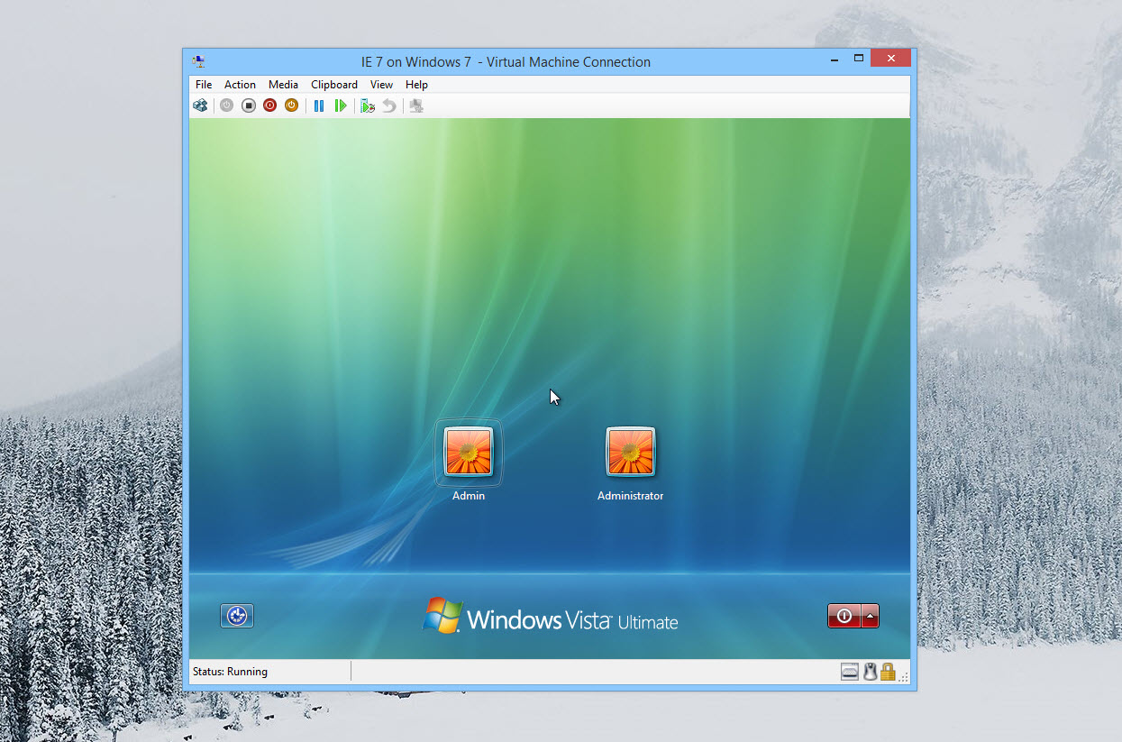 Running Windows Vista Ultimate in Hyper-V