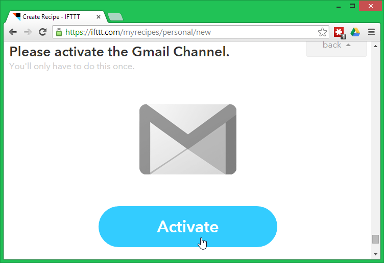 Please activate the Gmail channel