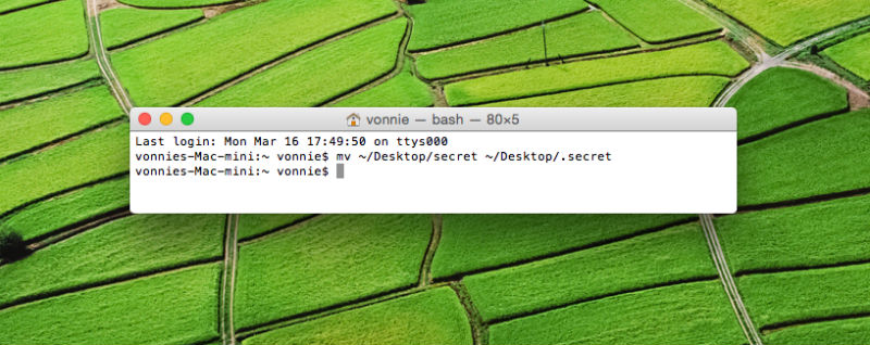 Renaming a file or folder in Mac OS X from the Terminal