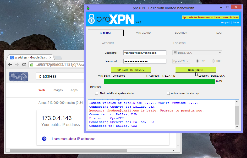 ProXPN IP Address