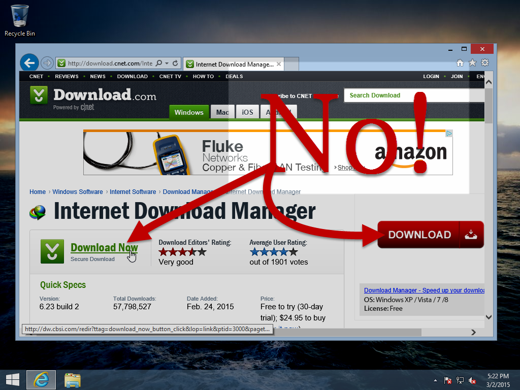 The next time you stumble upon a download manager on Download.com ...