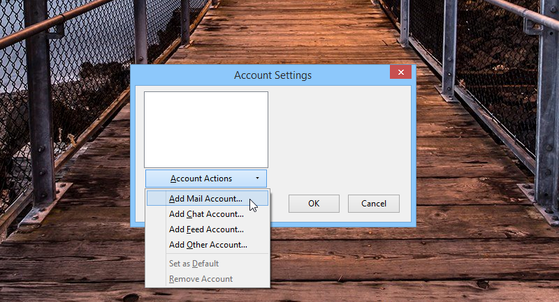 Mozilla Thunderbird Account Settings
