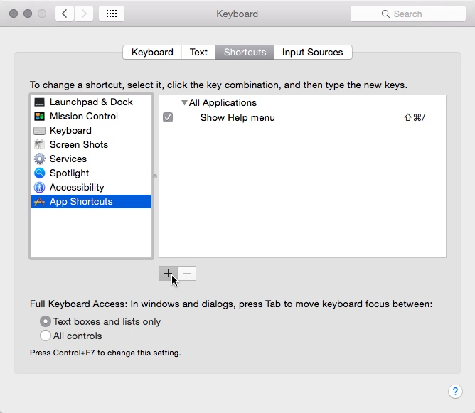 Mac OS X App Shortcuts