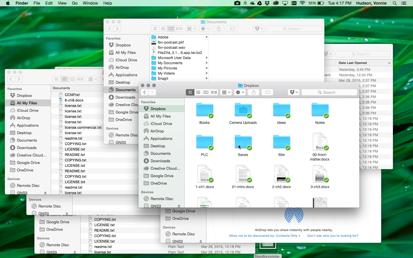 Mac OS X messy screen