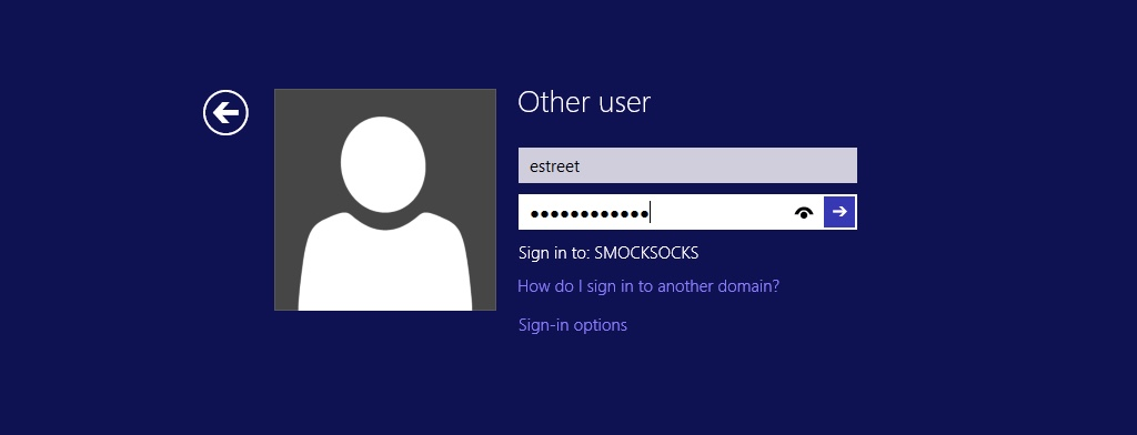 Sign in to Windows 8.1 Domain Controller