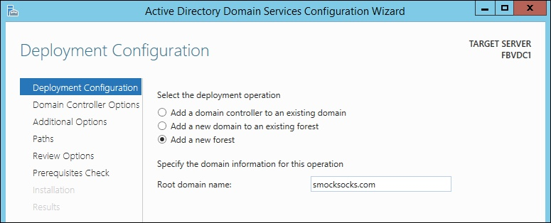 Windows Server 2012 Deployment Configuration