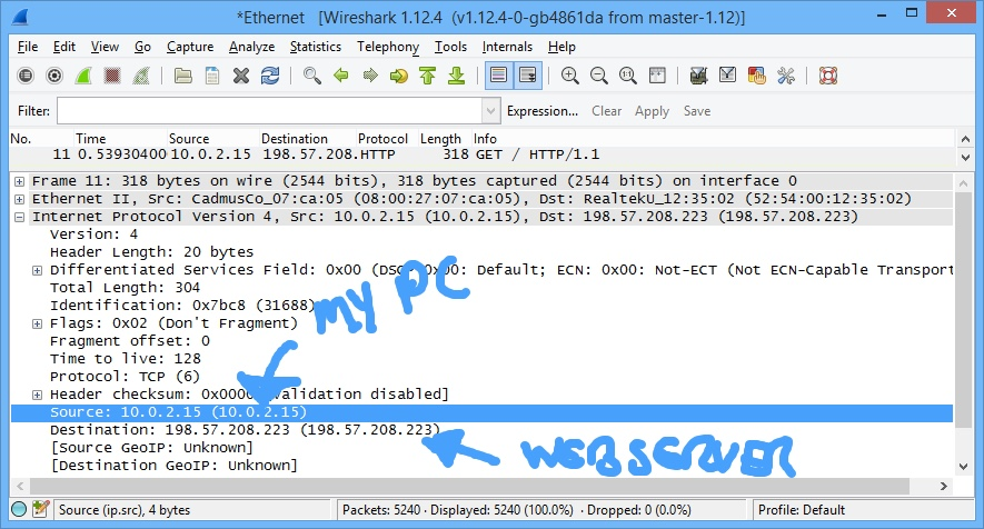 WireShark at the Network Layer
