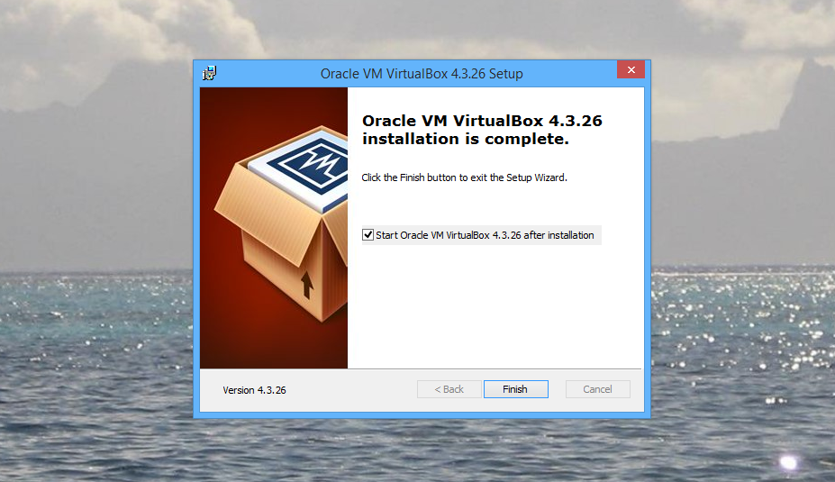Virtualbox Finished Install