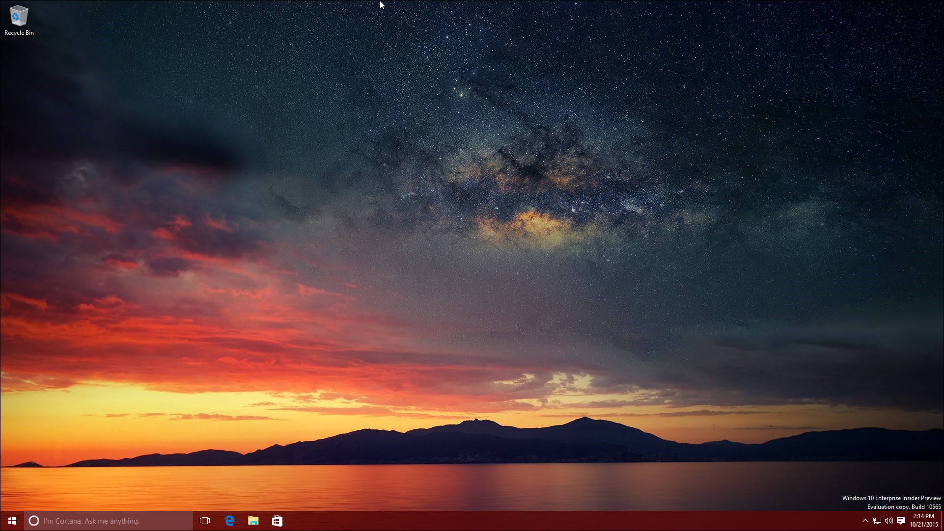 The Windows 10 desktop