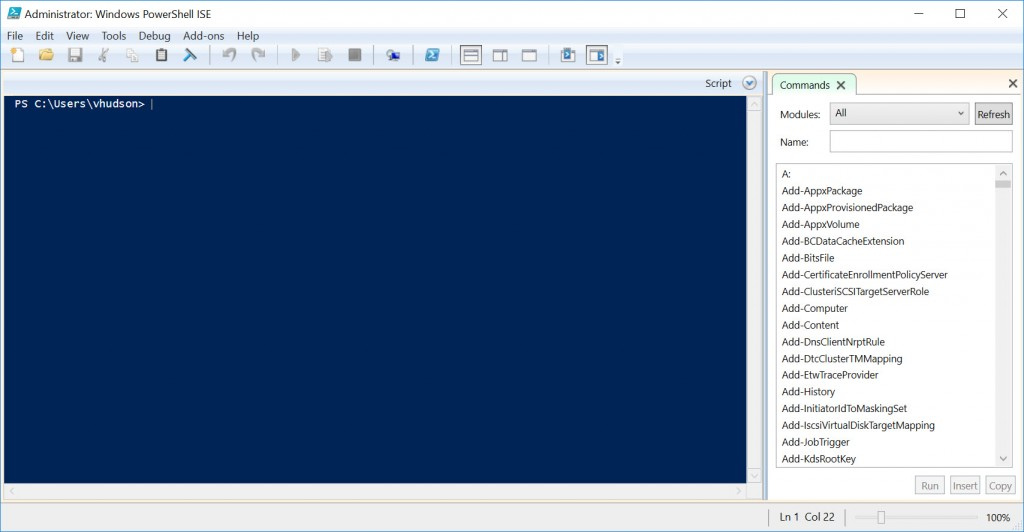 The Integrated Scripting Environment