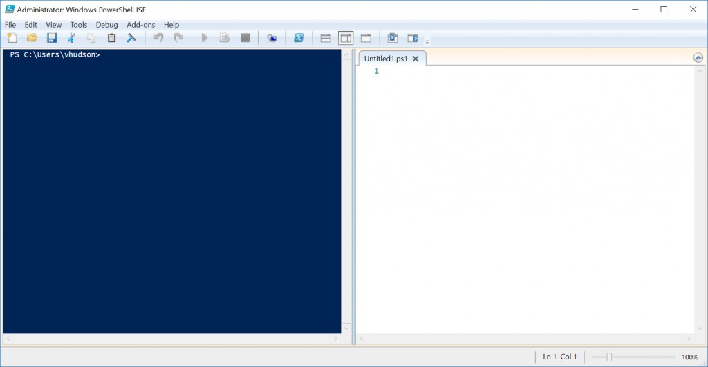 PowerShell split pane